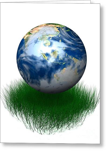 Global Environment, Conceptual Artwork Greeting Card by Victor Habbick Visions