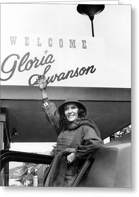 Swanson Greeting Cards - Gloria Swanson Greeting Card by Silver Screen