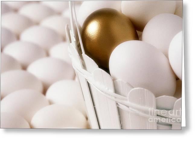 Golden Egg Greeting Cards - Golden Egg Greeting Card by Jim Corwin
