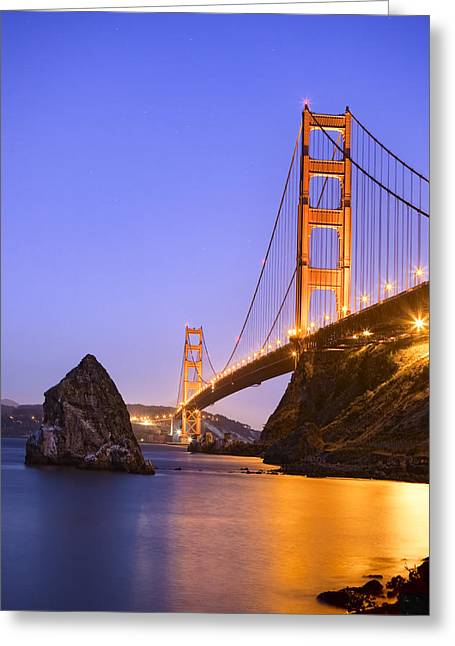 Best Sellers -  - Point Lobos Reserve Greeting Cards - Golden gate bridge Greeting Card by Emmanuel Panagiotakis