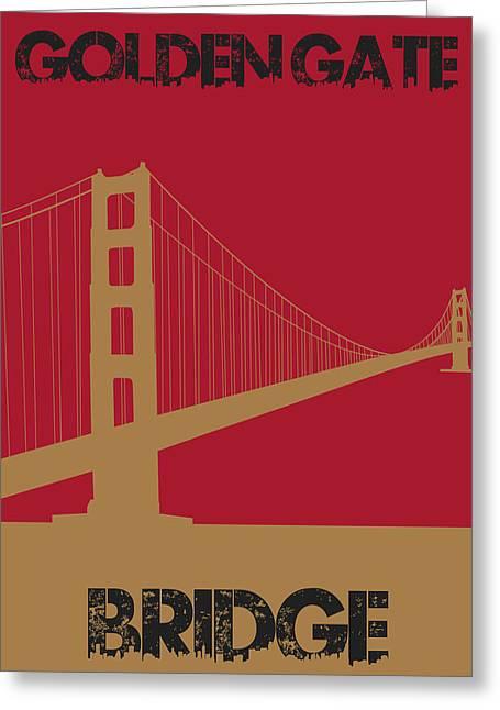 Urban Jungle Greeting Cards - Golden Gate Bridge Greeting Card by Joe Hamilton