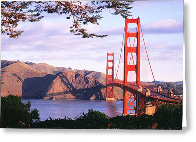 Strength Photographs Greeting Cards - Golden Gate Bridge, San Francisco Greeting Card by Panoramic Images