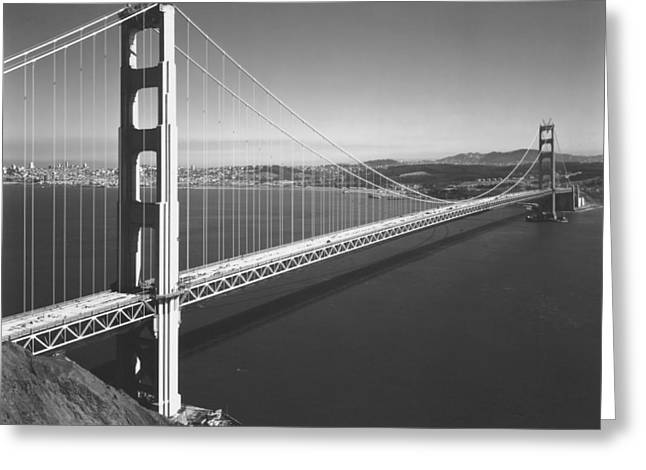 Golden Gate Bridge In Sf Greeting Card by Underwood Archives
