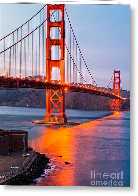 Downtown San Francisco Greeting Cards - Golden Gate - San Francisco Greeting Card by Luciano Mortula