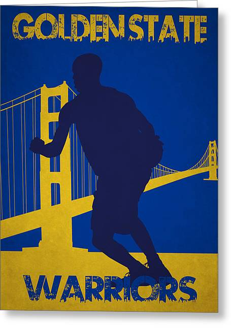 Golden State Greeting Cards - Golden State Warriors Greeting Card by Joe Hamilton