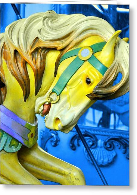 Bryant Greeting Cards - Golden Steed Greeting Card by JAMART Photography