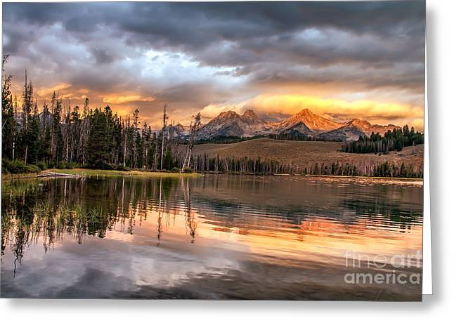 Wow Greeting Cards - Golden Sunrise Greeting Card by Robert Bales