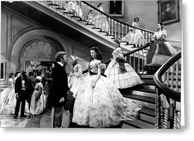 Films Photographs Greeting Cards - Gone with the Wind  Greeting Card by Silver Screen