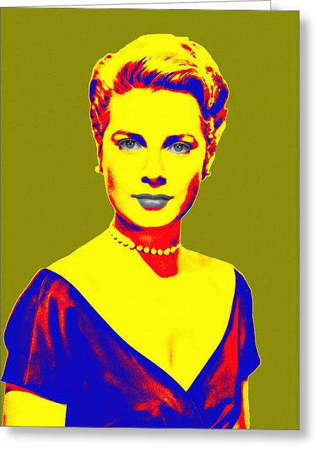 Princess Grace Greeting Cards - Grace Kelly Greeting Card by Art Cinema Gallery