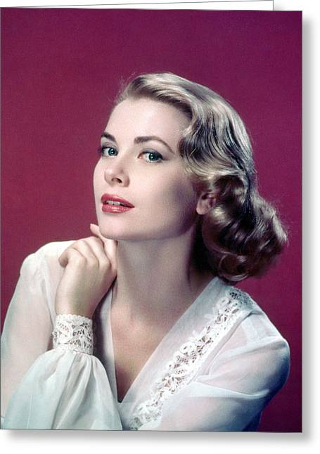 Kelly Greeting Cards - Grace Kelly Greeting Card by Silver Screen