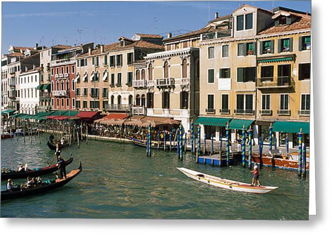 Gondolier Photographs Greeting Cards - Grand Canal Venice Italy Greeting Card by Panoramic Images