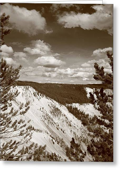 Sandstone Bluffs Greeting Cards - Grand Canyon of Yellowstone Greeting Card by Frank Romeo