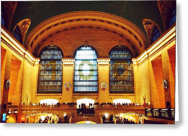 Times Square Digital Greeting Cards - Grand Central Greeting Card by Natasha Marco
