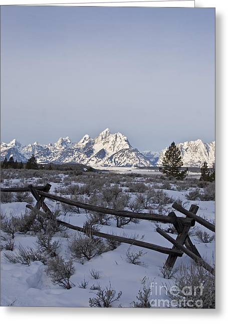 Dude Ranch Greeting Cards - Grand Teton National Park Greeting Card by Jim West