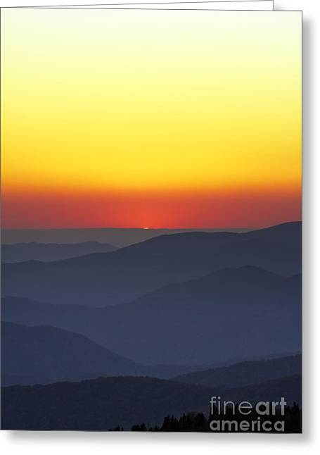 Clingmans Dome Greeting Cards - Great Smokie Mountains National Park Sunset Greeting Card by Dustin K Ryan