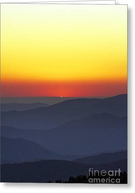 Great Smokie Mountains National Park Sunset Greeting Card by Dustin K Ryan