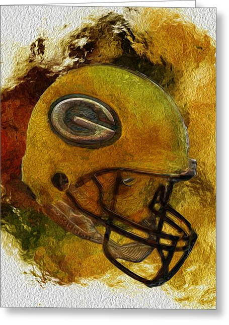 Manipulated Digital Photograph Greeting Cards - Green Bay Packers Greeting Card by Jack Zulli
