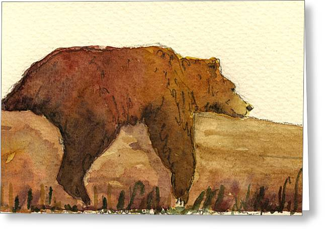 Grizzlies Greeting Cards - Grizzly bear Greeting Card by Juan  Bosco