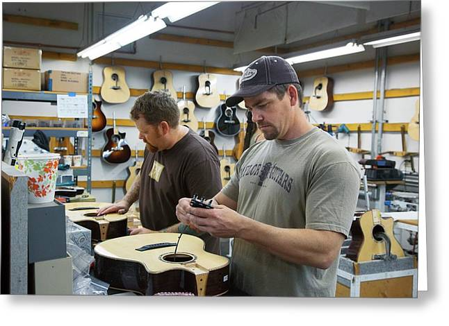 Guitar Factory Greeting Card by Jim West