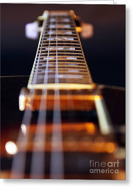 Metal Music Greeting Cards - Guitar Greeting Card by Stylianos Kleanthous
