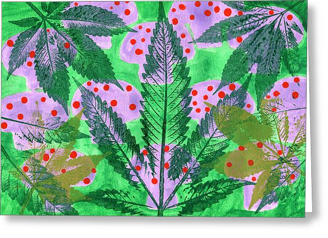 Hand-made Illustrations With Leaf Greeting Card by Stock Pot Images