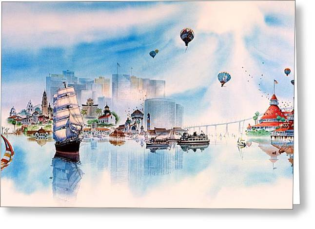 Images Of San Diego Greeting Cards - Happy Memories Greeting Card by John YATO