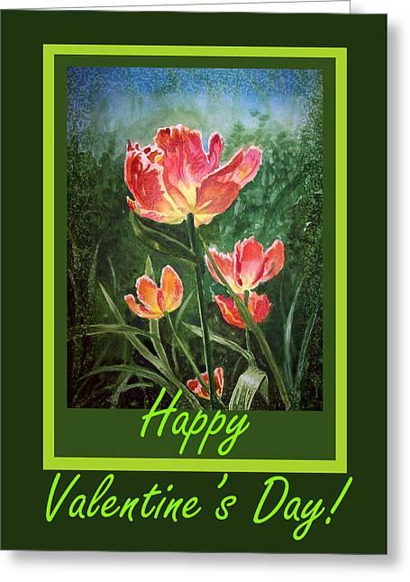 Valentine Greeting Cards - Happy Valentines Day Greeting Card by Irina Sztukowski