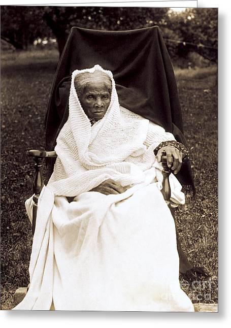 Harriet Tubman, American Abolitionist Greeting Card by Photo Researchers