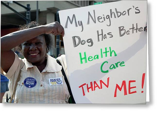 Healthcare Reform Campaign Greeting Card by Jim West