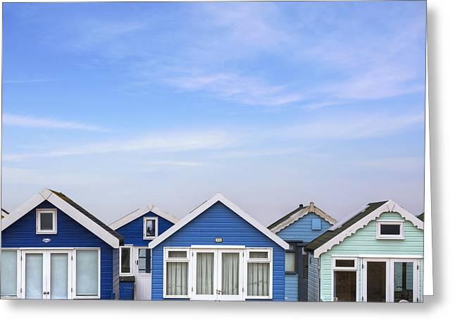Beach Huts Greeting Cards - Hengistbury Head - England Greeting Card by Joana Kruse
