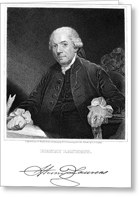 Autograph Greeting Cards - Henry Laurens (1724-1792) Greeting Card by Granger