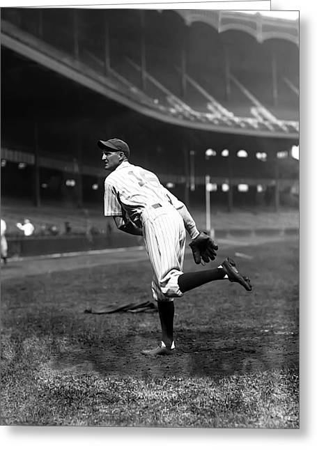 Boston Red Sox Greeting Cards - Herbert J. Herb Pennock Greeting Card by Retro Images Archive