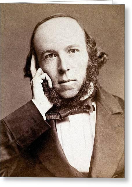 Herbert Spencer Greeting Card by Paul D Stewart