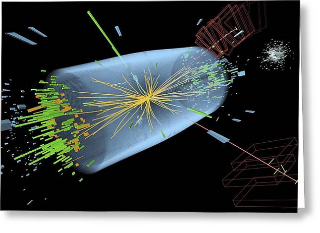 Particle Detector Greeting Cards - Higgs boson research, CMS detector Greeting Card by Science Photo Library
