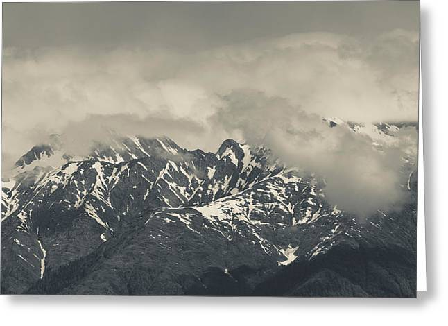 World Locations Greeting Cards - High Angle View Of Mountain Landscape Greeting Card by Panoramic Images