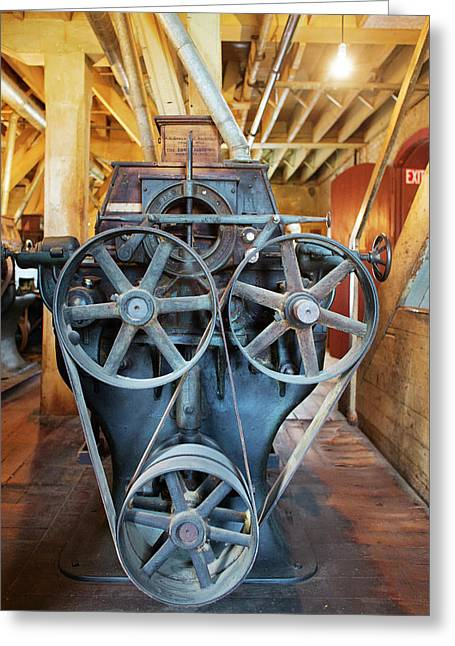 Historic Flour Mill Machinery Greeting Card by Jim West