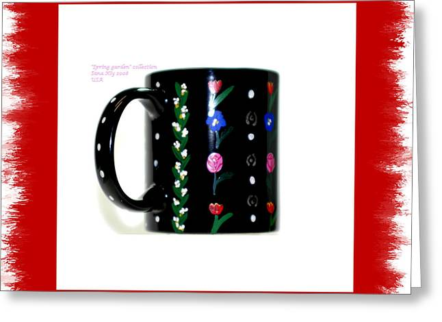 Collection Glass Art Greeting Cards - Holiday Collection Greeting Card by Oksana Semenchenko