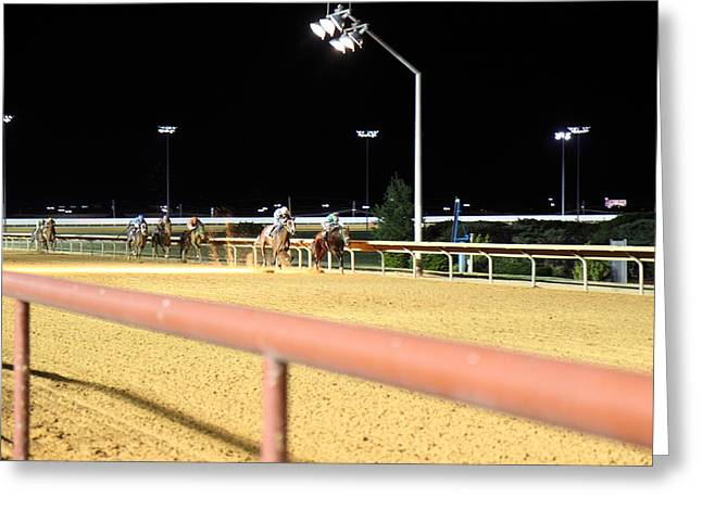 Ponies Greeting Cards - Hollywood Casino at Charles Town Races - 12125 Greeting Card by DC Photographer