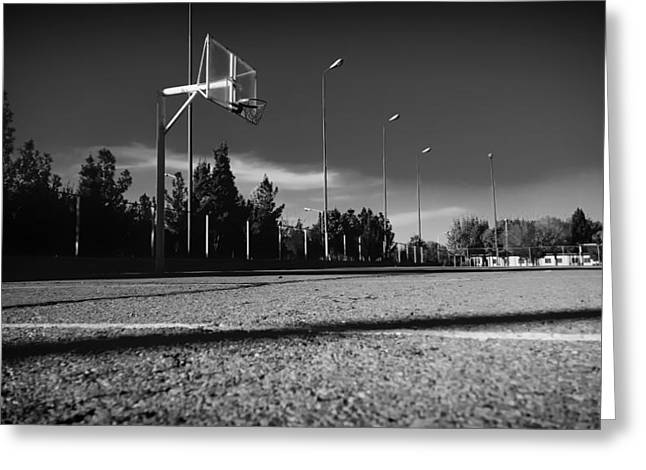 Basketball Photographs Greeting Cards - Hoop Dreams Greeting Card by Mountain Dreams