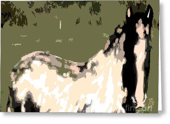 Equestrian Prints Greeting Cards - Horse Greeting Card by Patrick J Murphy