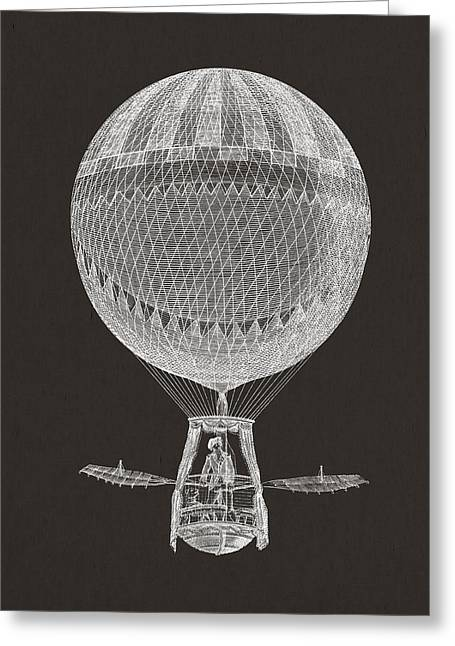 Hot Air Greeting Cards - Hot air balloon Greeting Card by Aged Pixel
