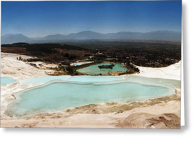 Natural Pools Greeting Cards - Hot Springs And Travertine Pool Greeting Card by Panoramic Images