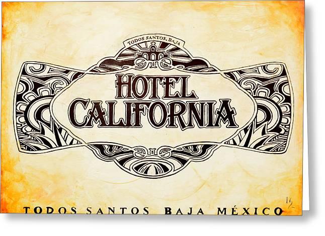 Naturalistic Paintings Greeting Cards - Hotel California Greeting Card by Ivan Guaderrama