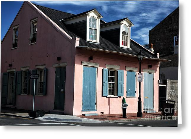 Old School House Greeting Cards - House on the Corner Greeting Card by John Rizzuto