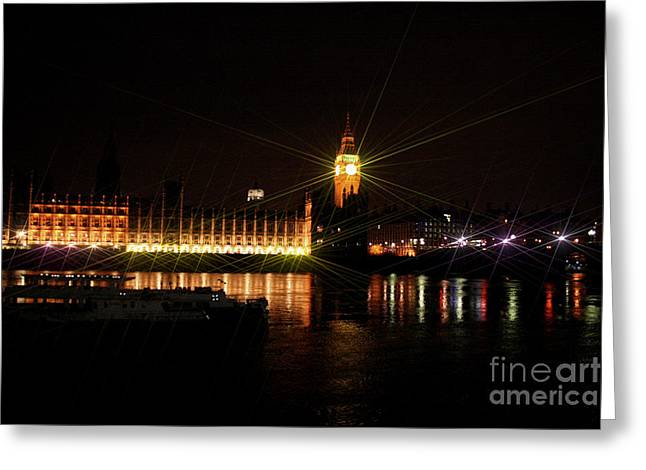 Owner Art Mixed Media Greeting Cards - Houses of Parliament And Big Ben Greeting Card by Michael Braham