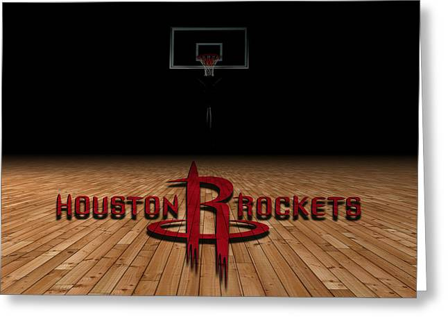 Houston Rockets Greeting Card by Joe Hamilton