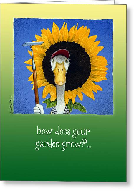 Runner Greeting Cards - How Does Your Garden Grow? Greeting Card by Will Bullas