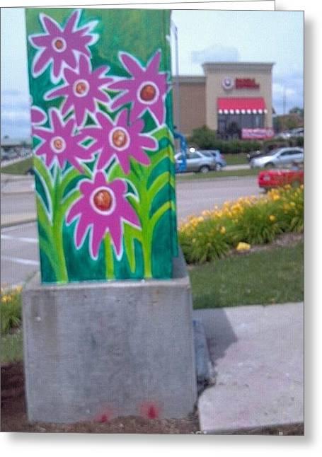 Hummingbird Wall Art Greeting Cards - Hummingbird Traffic Signal Box Greeting Card by Genevieve Esson