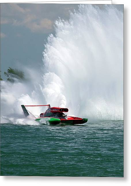 Hydroplane Racing Greeting Card by Jim West