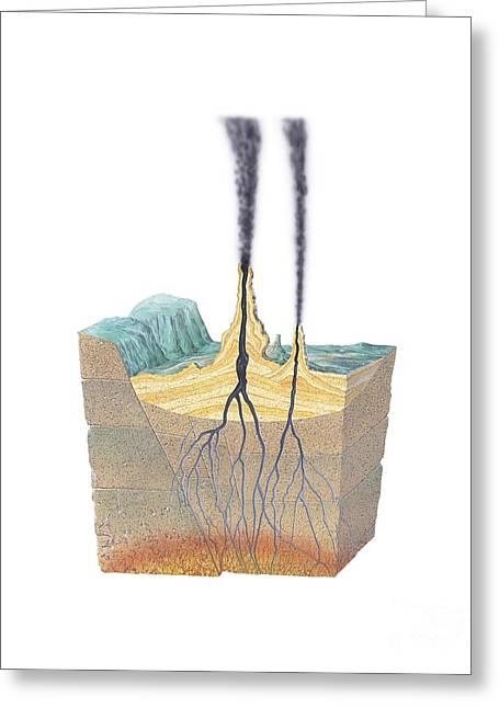 Smoker Greeting Cards - Hydrothermal Vents Greeting Card by Gary Hincks